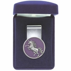 Unicorn Purple Steel Money Clip with Pewter Accent