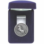 Unicorn Steel Money Clip with Pewter Accent
