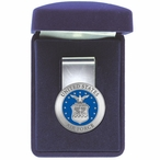 United States Air Force Blue Steel Money Clip with Pewter Accent