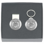 United States Air Force Money Clip & Key Chain Pewter Gift Set