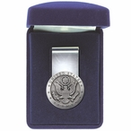 United States Army Steel Money Clip with Pewter Accent