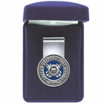 United States Coast Guard 1790 Blue Steel Money Clip w/ Pewter Accent