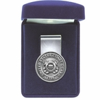United States Coast Guard 1790 Steel Money Clip with Pewter Accent