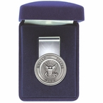 United States Navy Steel Money Clip with Pewter Accent