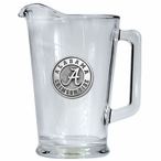 University of Alabama Crimson Tide Glass Pitcher with Pewter Accent