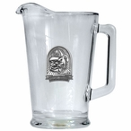 University of Georgia Bulldogs Dog Glass Pitcher with Pewter Accent