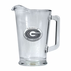 University of Georgia Bulldogs Glass Pitcher with Pewter Accent