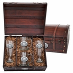 University of Georgia Bulldogs Pewter Accent Beer Chest Box Set