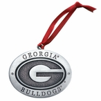 University of Georgia Bulldogs Pewter Accent Ornaments, Set of 2