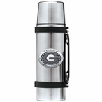 University of Georgia Bulldogs Pewter Accent Stainless Steel Thermos
