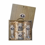 University of Georgia Bulldogs Red Pewter Accent Beer Box Set