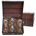 University of Georgia Bulldogs Red Pewter Accent Beer Chest Box Set