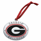 University of Georgia Bulldogs Red Pewter Accent Ornaments, Set of 2