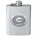 University of Georgia Bulldogs Stainless Steel Flask w/ Pewter Accent