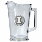 University of Illinois Fighting Illini Glass Pitcher w/ Pewter Accent