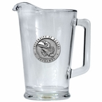 University of Kansas Jayhawks Glass Pitcher with Pewter Accent