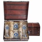 University of Kentucky Wildcats Blue Pewter Accent Beer Chest Box Set