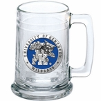 University of Kentucky Wildcats Blue Pewter Accent Glass Beer Mug