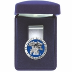 University of Kentucky Wildcats Blue Pewter Accent Steel Money Clip