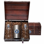 University of Kentucky Wildcats Blue Pewter Accent Wine Chest Set