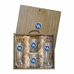 University of Kentucky Wildcats Logo Blue Pewter Accent Beer Box Set