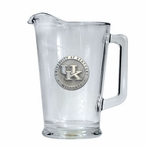 University of Kentucky Wildcats Logo Glass Pitcher with Pewter Accent