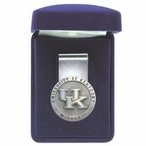 University of Kentucky Wildcats Logo Pewter Accent Steel Money Clip