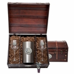 University of Kentucky Wildcats Logo Pewter Accent Wine Chest Set
