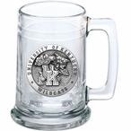 University of Kentucky Wildcats Pewter Accent Glass Beer Mug