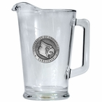 University of Louisville Cardinals Glass Pitcher with Pewter Accent
