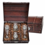 University of Louisville Cardinals Pewter Accent Beer Chest Box Set