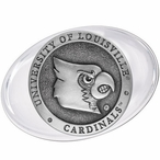 University of Louisville Cardinals Pewter Accent Paperweight