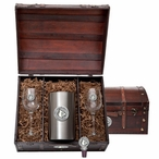University of Louisville Cardinals Pewter Accent Wine Chest Set