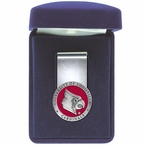 University of Louisville Cardinals Red Pewter Accent Steel Money Clip