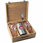 University of Louisville Cardinals Red Pewter Accent Wine Box Set
