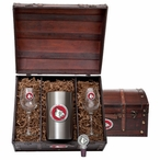 University of Louisville Cardinals Red Pewter Accent Wine Chest Set