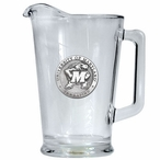 University of Maryland Terrapins Glass Pitcher with Pewter Accent