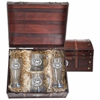 University of Maryland Terrapins Pewter Accent Beer Chest Box Set