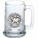 University of Maryland Terrapins Pewter Accent Glass Beer Mug