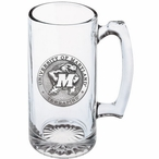 University of Maryland Terrapins Pewter Accent Glass Super Beer Mug