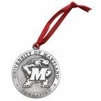 University of Maryland Terrapins Pewter Accent Ornaments, Set of 2