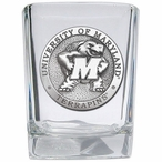University of Maryland Terrapins Pewter Accent Shot Glasses, Set of 4