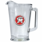 University of Maryland Terrapins Red Glass Pitcher with Pewter Accent