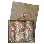 University of Maryland Terrapins Red Pewter Accent Beer Box Set