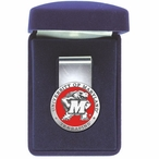 University of Maryland Terrapins Red Pewter Accent Steel Money Clip
