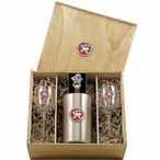 University of Maryland Terrapins Red Pewter Accent Wine Box Set