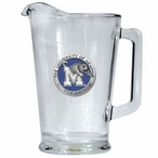 University of Memphis Tigers Blue Glass Pitcher with Pewter Accent