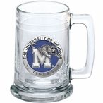 University of Memphis Tigers Blue Pewter Accent Glass Beer Mug