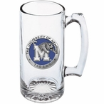 University of Memphis Tigers Blue Pewter Accent Glass Super Beer Mug