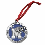 University of Memphis Tigers Blue Pewter Accent Ornaments, Set of 2
